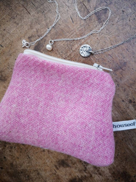 Hand Crafted Harris Tweed  small coin purse