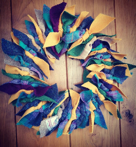 NEW Big Harris Tweed wreath home docoration