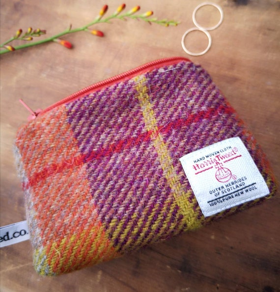 Hand Crafted Harris Tweed  small purse