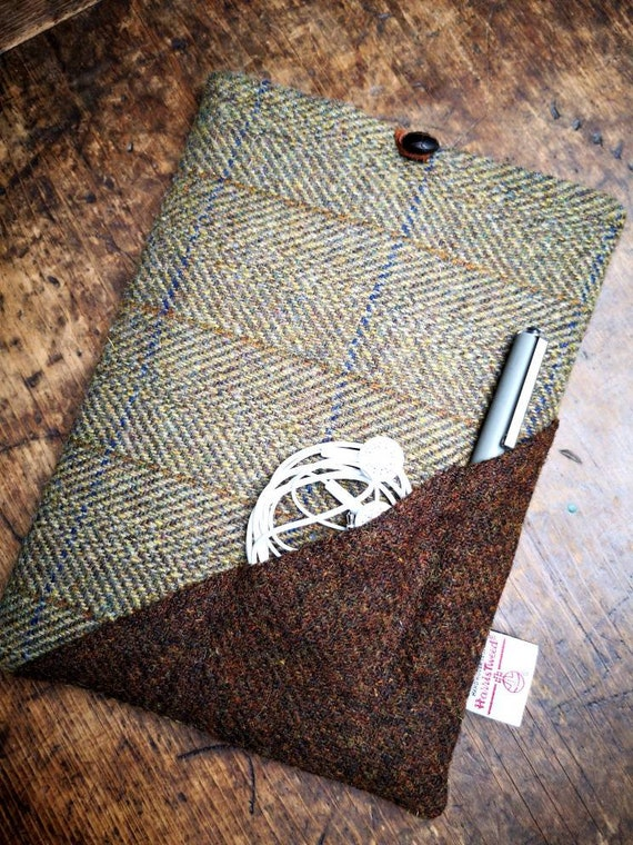 Hand Crafted Harris Tweed ipad Pro, Air 9.7 sleeve case wool cover