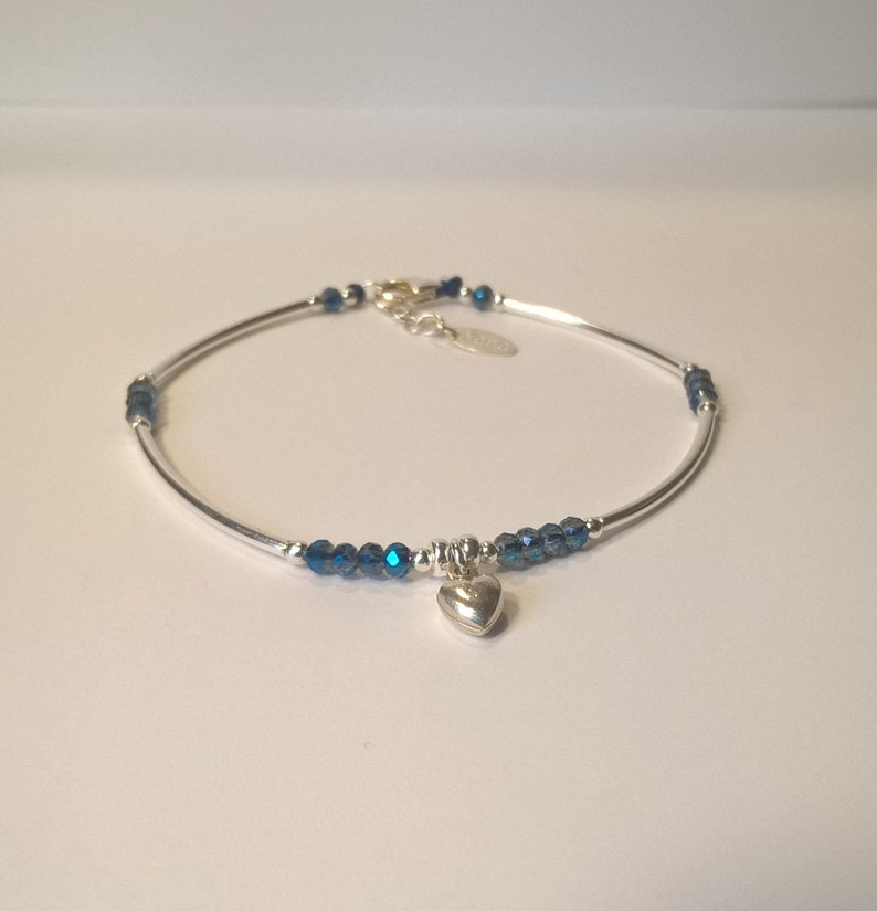 135dc3c16 Bracelet Watch silver band 925 Pearl blue swarovski crystal   Etsy