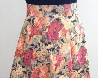 floral skirt, vintage fabric skirt, vintage style skirt, bridesmaid skirt, reclaimed fabric skirt, recycled fabric skirt, unique skirt,