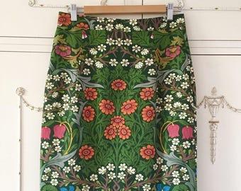Made to Measure Pencil Skirt, Slim Skirt, High Waist Skirt, Plus Size Skirt, Made to Measure Skirt, Vintage Fabric Pencil Skirt,