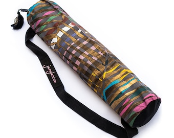 Eco Yoga Mat Bag, Hand Painted Boho Yoga Bag