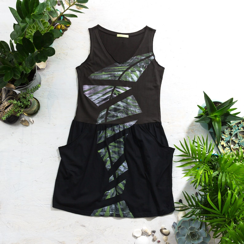 Hand Painted Dress For Women Wanderlust Outfit For Her Short image 0
