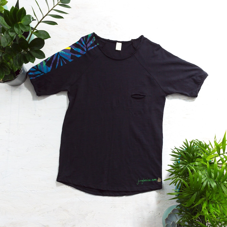 Hand Painted T-Shirt Alternative Clothing Tropical Clothing image 0