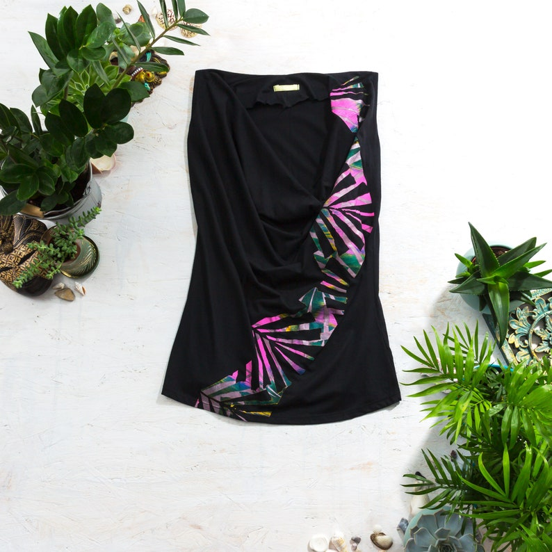 Hand Painted Top Alternative Clothing Tropical Clothing image 0