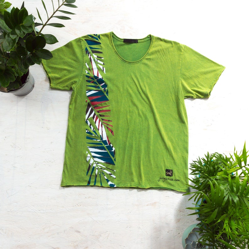 Tropical Clothing Hand Painted T-Shirt Alternative Clothing image 0