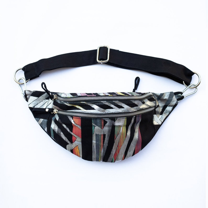 Boho Fanny Pack Unique Hand Painted Bum Bag Vegan Crossbody image 0