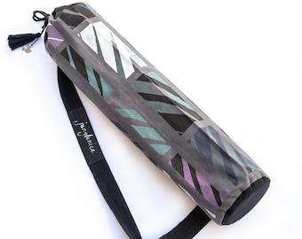Yoga Mat Bag, Hand Painted Yoga Mat Carrier