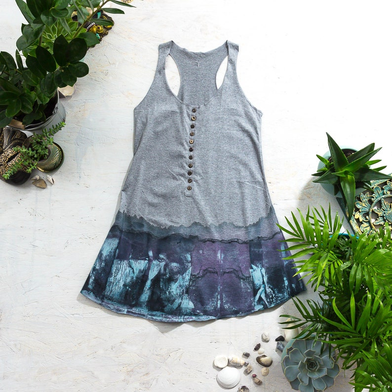 Yoga Tank Top  Aesthetic Clothing Hand Painted Dress image 0