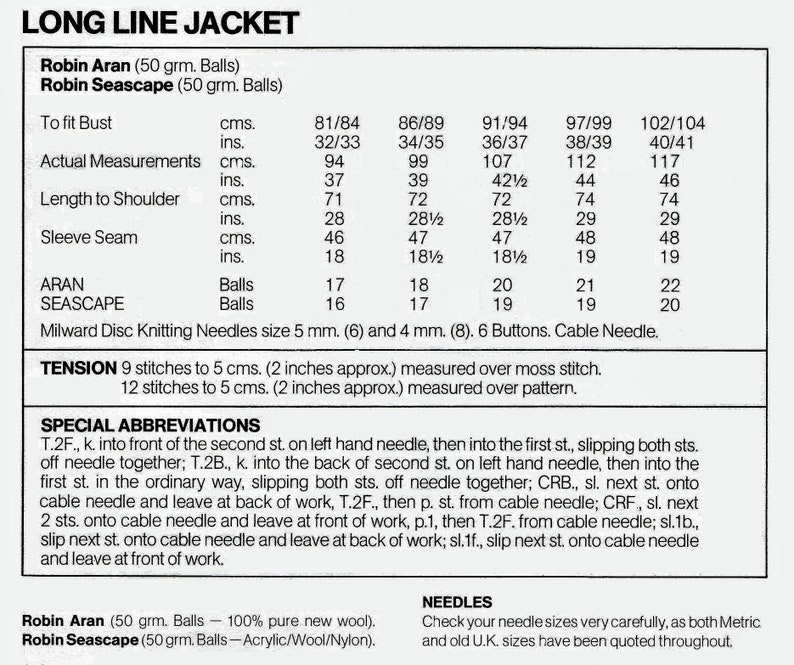 jacket in a Aran cable pattern knitting pattern in PDF form. Ladies long line cardigan
