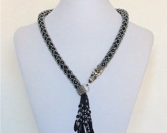 Black Dragon Beaded Necklace MADE TO ORDER