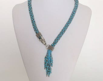 Blue Dragon Beaded Necklace MADE TO ORDER