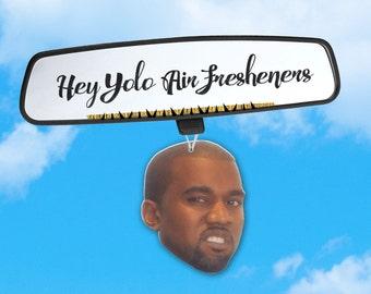 Kanye West Air Freshener - Kanye Car Air Freshener - Fresh Scents - Hip Hop Heads