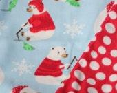 Stroller Blanket-Fleece Blanket-Baby Blanket-Winter Blanket-Polar Bear Blanket