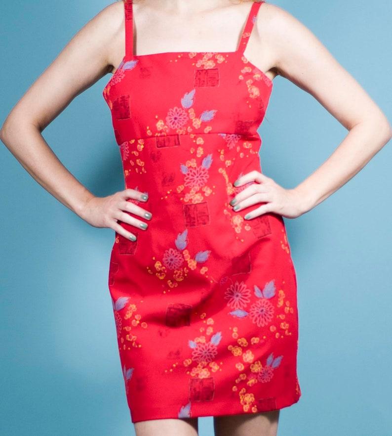 7103d38e2de Vintage 90s Mini Dress Oriental Mini Y2K Dress Party Dress