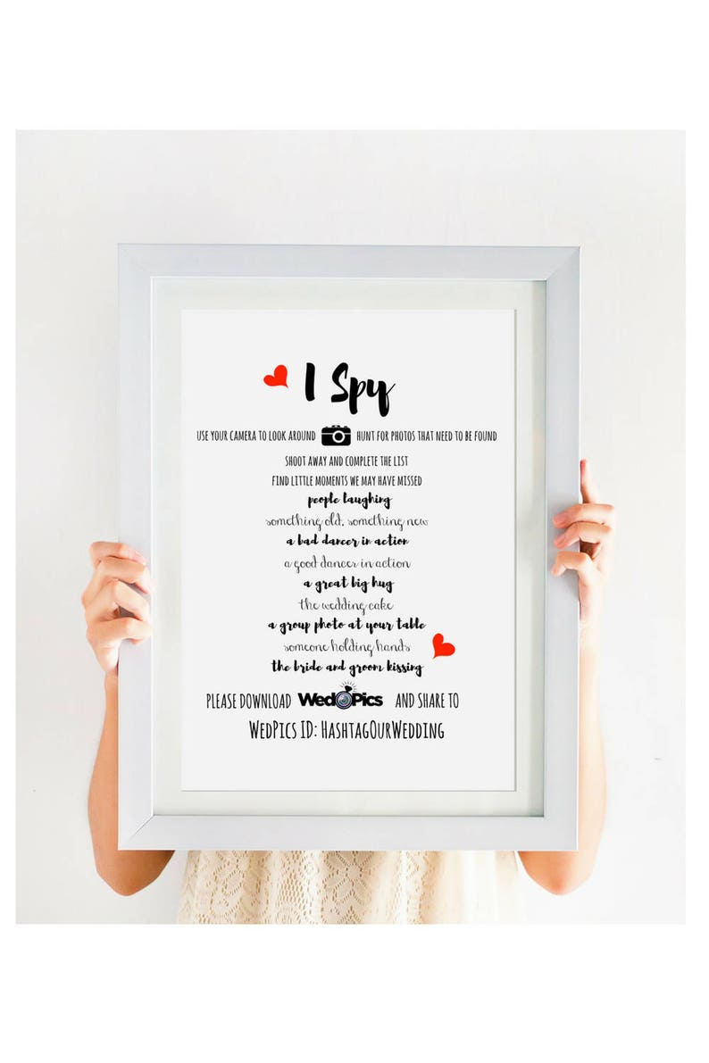 Wedpics I Spy Wedding Game Wedding I Spy Printable Wedding Etsy