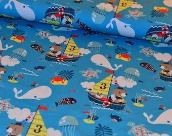 Fabric fabric Jersey Kimi Teddy on sea voyage marine jersey knit fabric LIJO