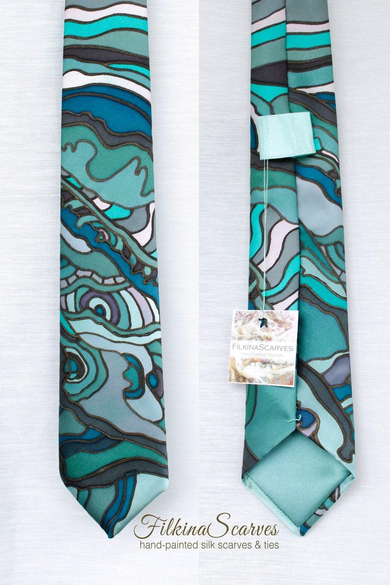 Floral Mint Green Mens Tie Handkerchief Silk Pocket Square Hanky