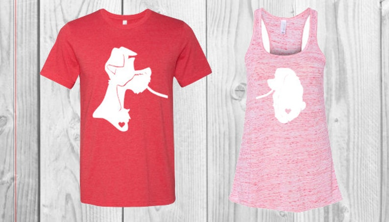 0d4d6a1a7 Lady and the Tramp Disney Couple Shirts On Sale Disney   Etsy