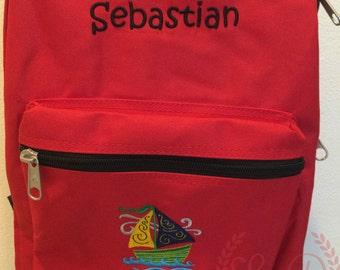 Monogram Book Bag - Personalized Book Bag - Back to School - Personalized Backpack - Monogram Backpack