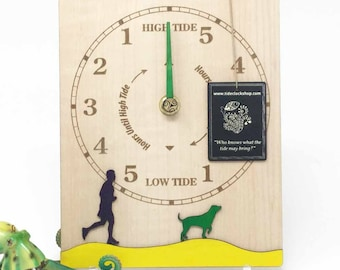 Dog walkers need tide clocks too. Tide clock for walkers, beach goers, swimmers, sailors, surfers kayakers....