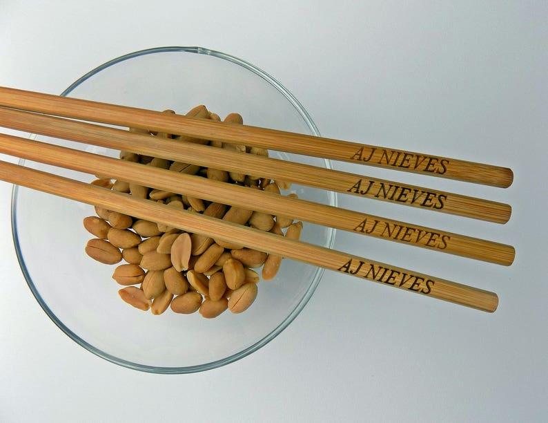 Personalized Chopsticks Wedding Chopsticks Bamboo Chopstick Order 5pr Wedding Favors Rustic Chopstick Min New Engraved Chopsticks