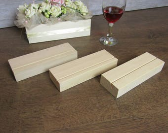 Wood Table Number Holders Set, Wedding Table Numbers, Wedding sign holder, Wood table number stand,