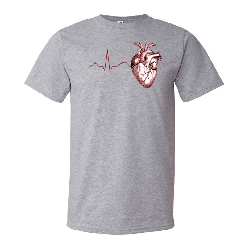 2dffab6cc Anatomy Heart T-Shirt Human Anatomical Heart ECG EKG | Etsy