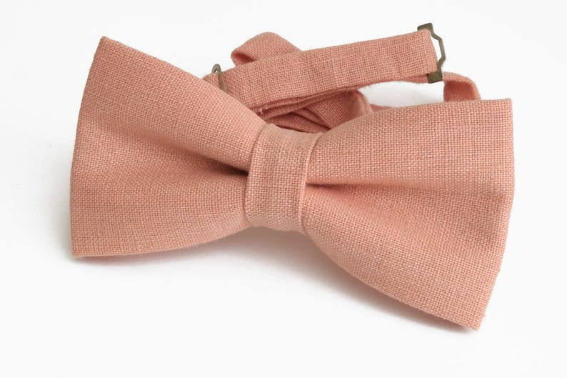 Pink Bow Tie for wedding  linen bow tie for men  bow tie pink  bow tie for baby  pink boy/'s bow tie men/'s pink bow tie pink necktie