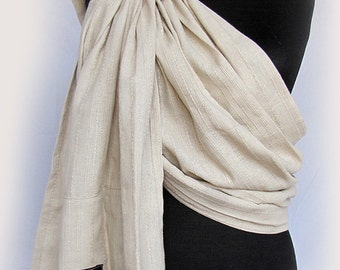 Baby Ring Sling Baby Sling Baby Carrier Wrap Conversion Pure Linen Ring Sling Newborn Toddler Sling Natural Linen Color