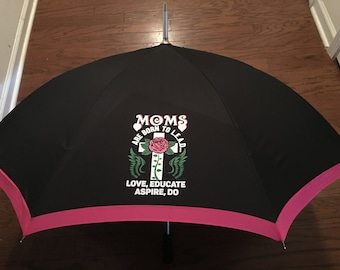 Moms Umbrella, Rain Umbrella, Sun Umbrella, Moms Are Born To Lead Umbrella, Wedding Umbrella,  Bridal Umbrella,  Personalized Umbrella