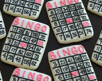 BINGO Card Cookies