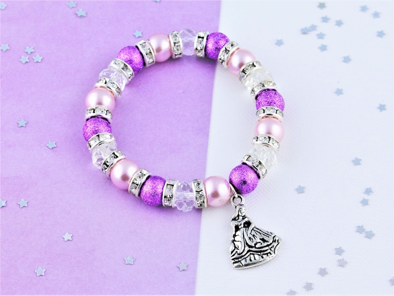 c6396d02854df Princess Bracelet, Kids Jewellery, Children's Princess Jewelry, Princess  Charm Bracelet, Beaded Bracelet, Girls Princess Gifts, Princesses