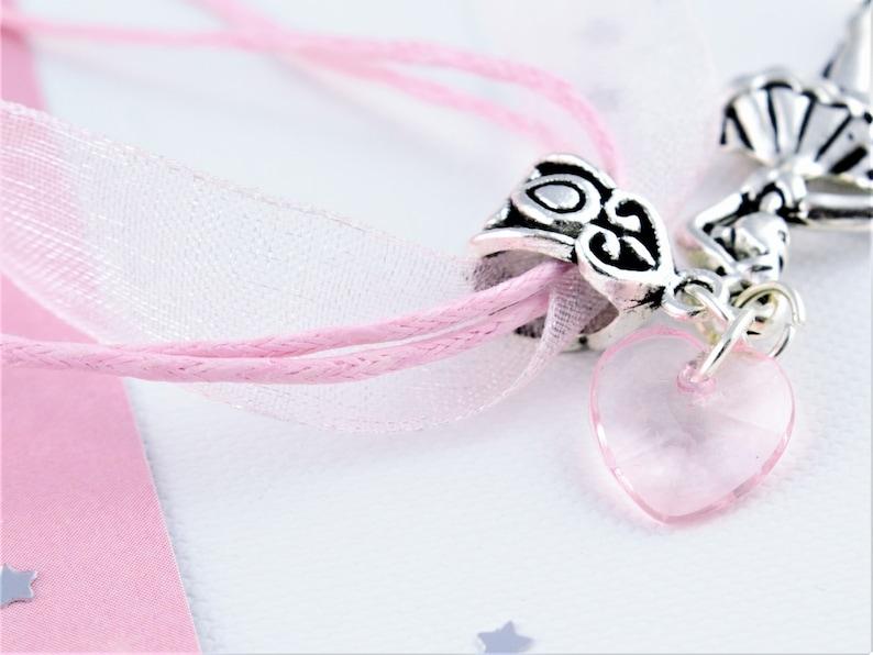 Ballerina Ribbon Necklace Kids Necklace Girls Dance Jewelry Organza Jewellery Kids Ballet Gifts Dancer Necklace Lightweight Necklace