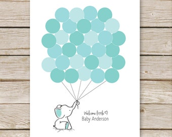 photo relating to Free Printable Baby Shower Guest Book called Crimson Elephant Visitor E book PRINTABLE for Kid Shower Birthday