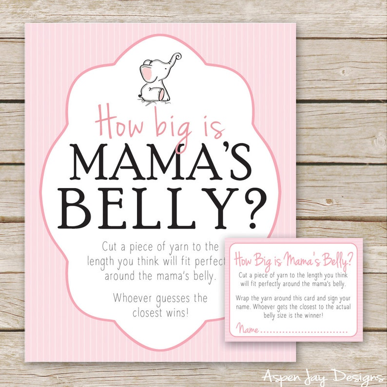 graphic regarding How Big is Mommy's Belly Free Printable titled Red Elephant Boy or girl Shower How Huge is Mommys Tummy Recreation - Printable Obtain - Purple Lady Little one Shower Video game