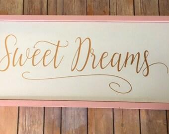 Sweet Dreams Nursery Decor - Wood Sign