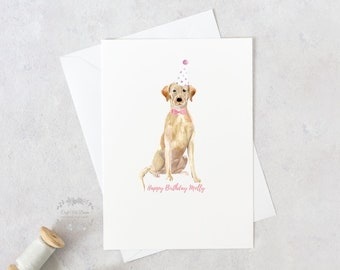 Personalised Labrador Card Birthday For The Dog Golden Chocolate Black