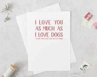 Funny Card Birthday Anniversary Dog Cat Boyfriend Fiance Husband Valentines Day