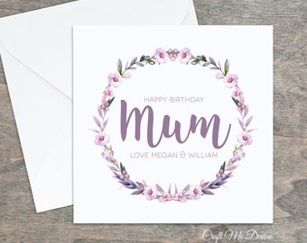 Personalised Birthday Card Mum For Her Special