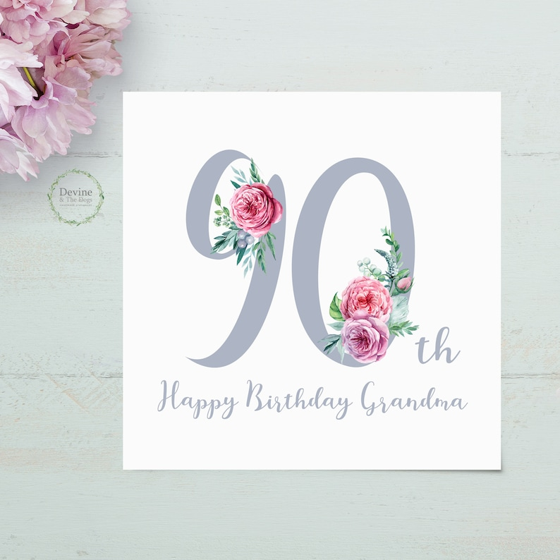 Personalised Birthday Card 90th 90 Ninety