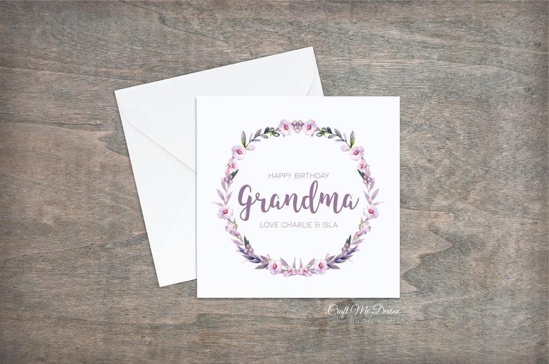 Personalised Birthday Card Grandma For Her Happy