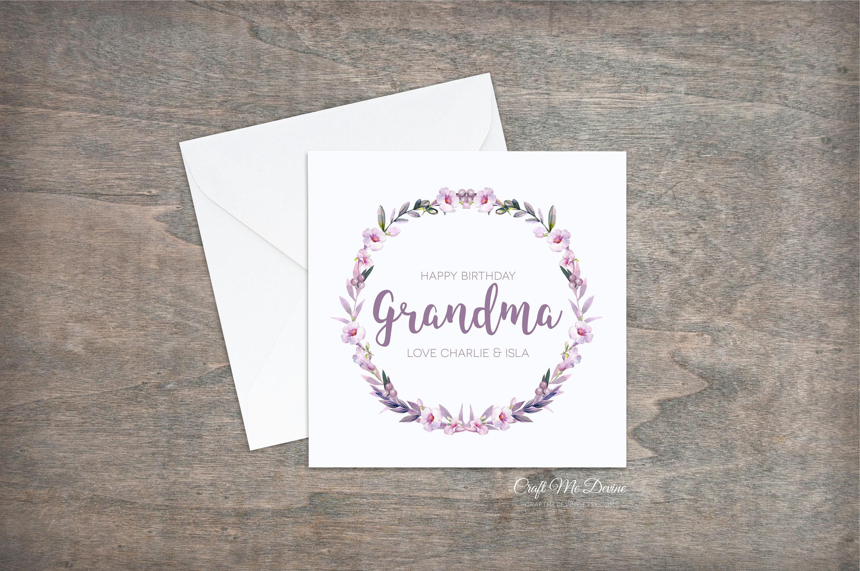 Personalised Birthday Card Grandma