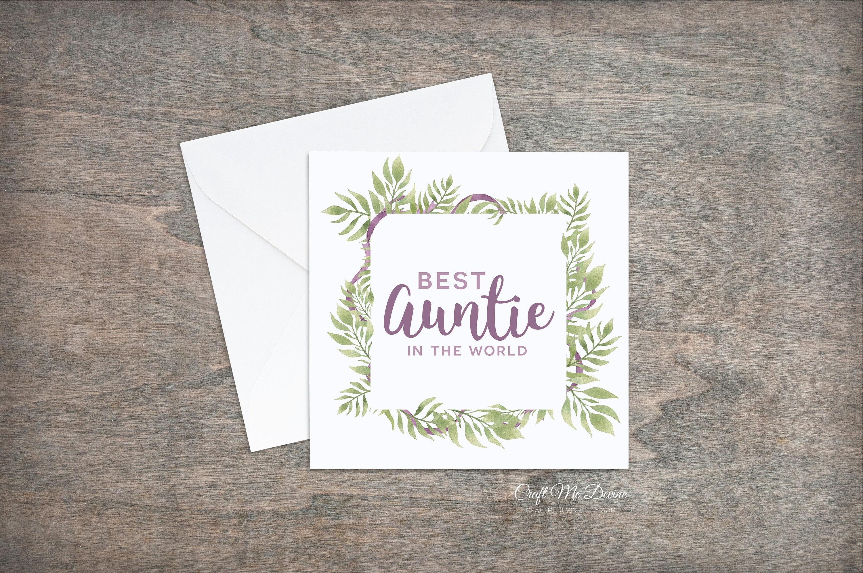 Best Auntie Birthday Card Auntie Birthday Card Auntie Card Etsy