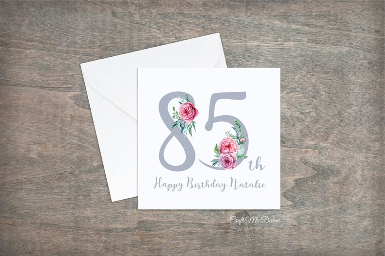 Personalised Birthday Card Happy 85th 85