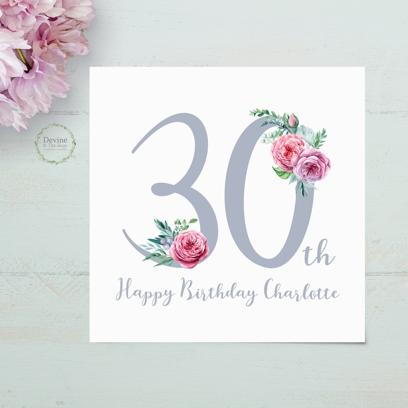 Personalised Birthday Card 30th 30