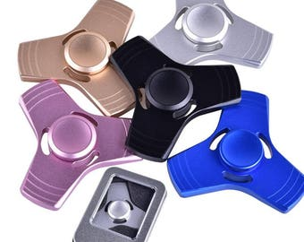 New Aluminum Metal Hand Fidget Spinner Figet Cube Desk Toy Plastic Metal~5 colors to pick from~Check out our other listings~