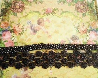 Black Lace headband - adjustable